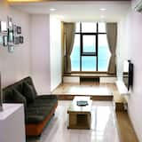 דירה, חדר שינה אחד, נוף לאוקינוס, פונה לים (Double) - אזור מגורים