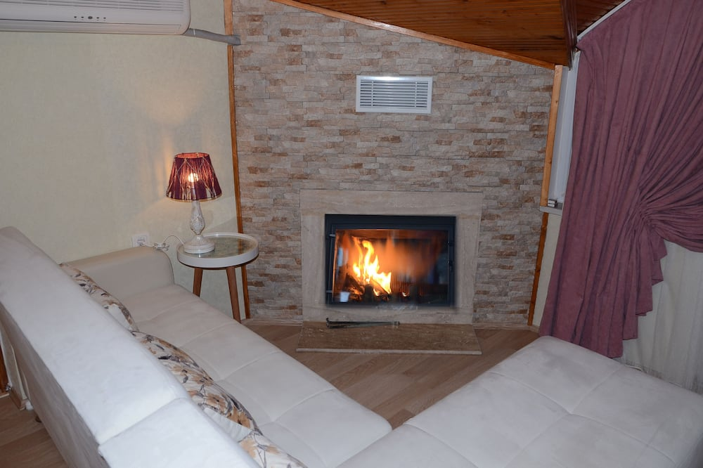 Deluxe Penthouse, 2 Bedrooms, Fireplace - Living Area