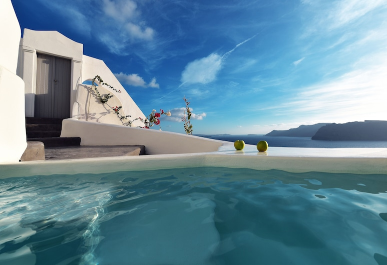 Ducato di Oia, Thira, Antiparos - Deluxe Cave Suite with Outdoor Plunge Pool and Caldera View, Balkón