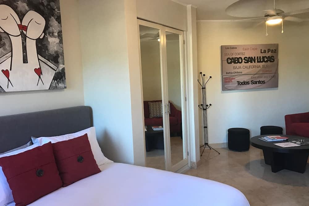 Suite Studio Premium, 1 grand lit et 1 canapé-lit - Coin séjour