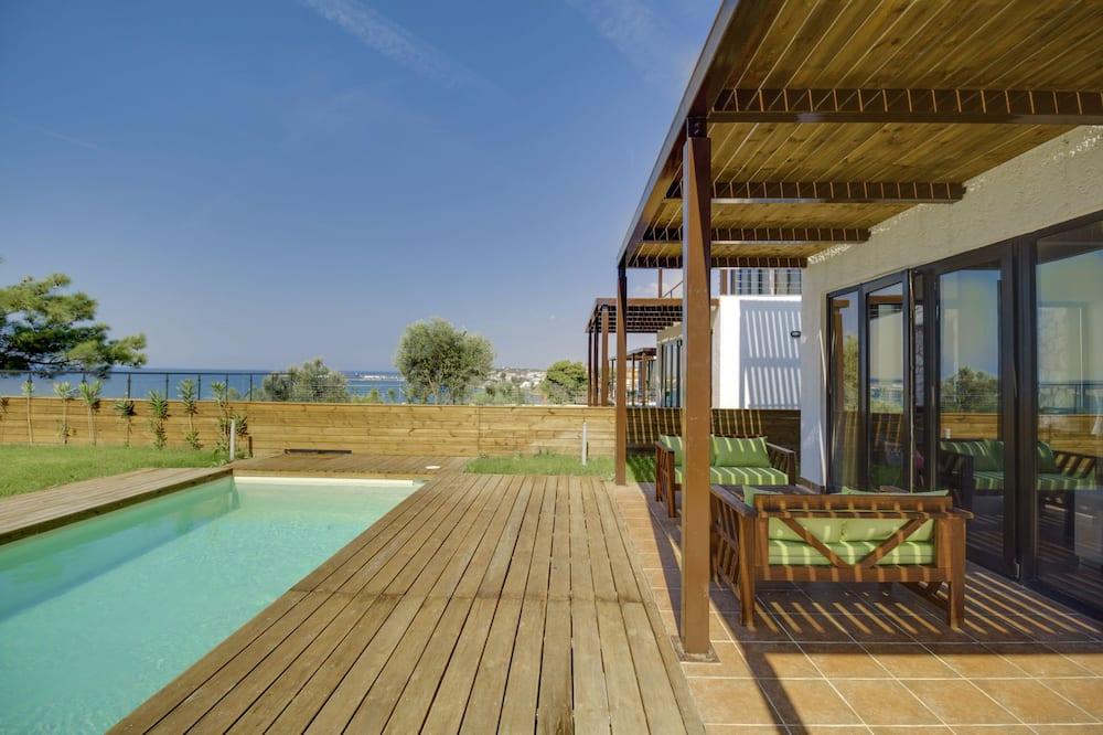 Вілла, 3 спальні, приватний басейн, з видом на море - Тераса/внутрішній дворик