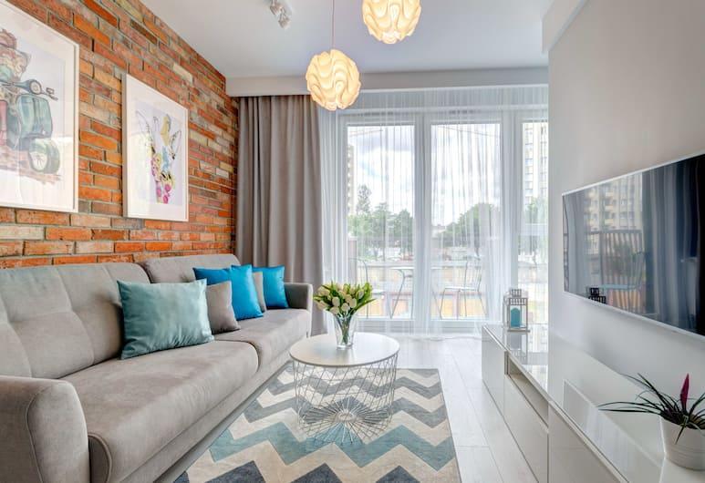 Dom & House - Apartments Old Town Sadowa, Gdansk, Leilighet – deluxe, 1 soverom, balkong (2 people), Oppholdsområde