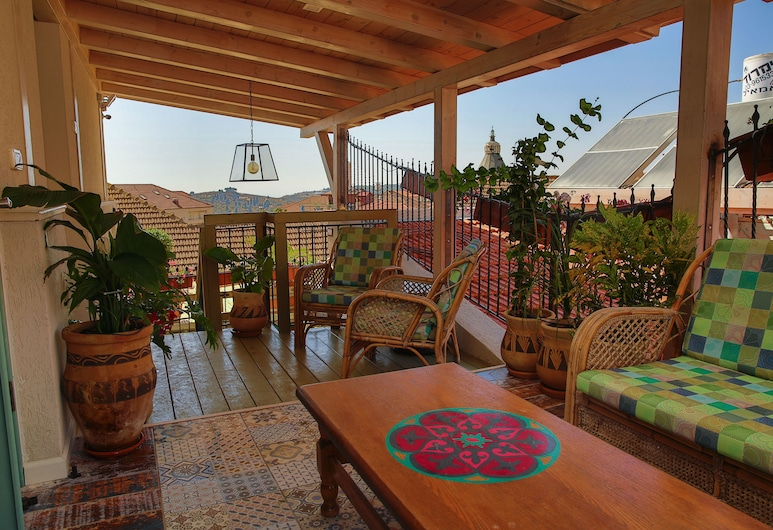 Michel House, Nazareth, Deluxe Double or Twin Room, Balcony, City View, Teres/Laman Dalam