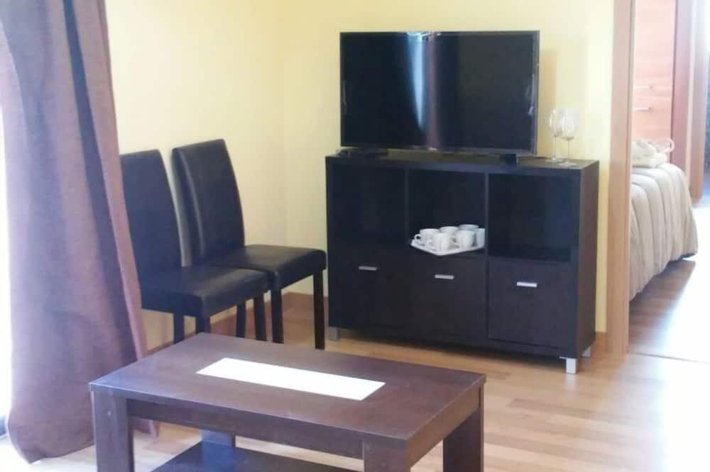 เบสิกอพาร์ทเมนท์, 1 ห้องนอน - พื้นที่นั่งเล่น