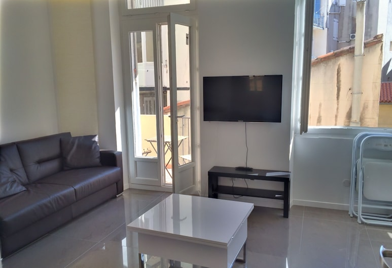 Appartement Design Marseille 54 Capucins, Marseille, Superior appartement, 1 slaapkamer, terras, Kamer