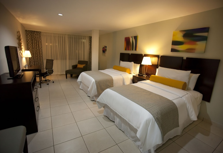 Hotel Los Andes, San Pedro Sula, Standard Room, 2 Double Beds, Guest Room