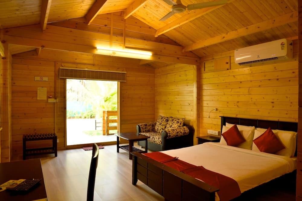 Ferienhaus, 1 Doppelbett, Balkon - Wohnzimmer