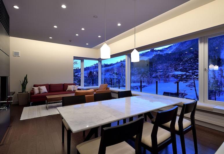 Mountainside Hakuba, האקובה, דירת סופריור, 3 חדרי שינה, לצד ההר, סלון