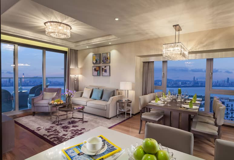 Savills Residence Daxin Shenzhen Bay, Shenzhen, Deluxe Apartment, 2 Bedrooms, Living Area