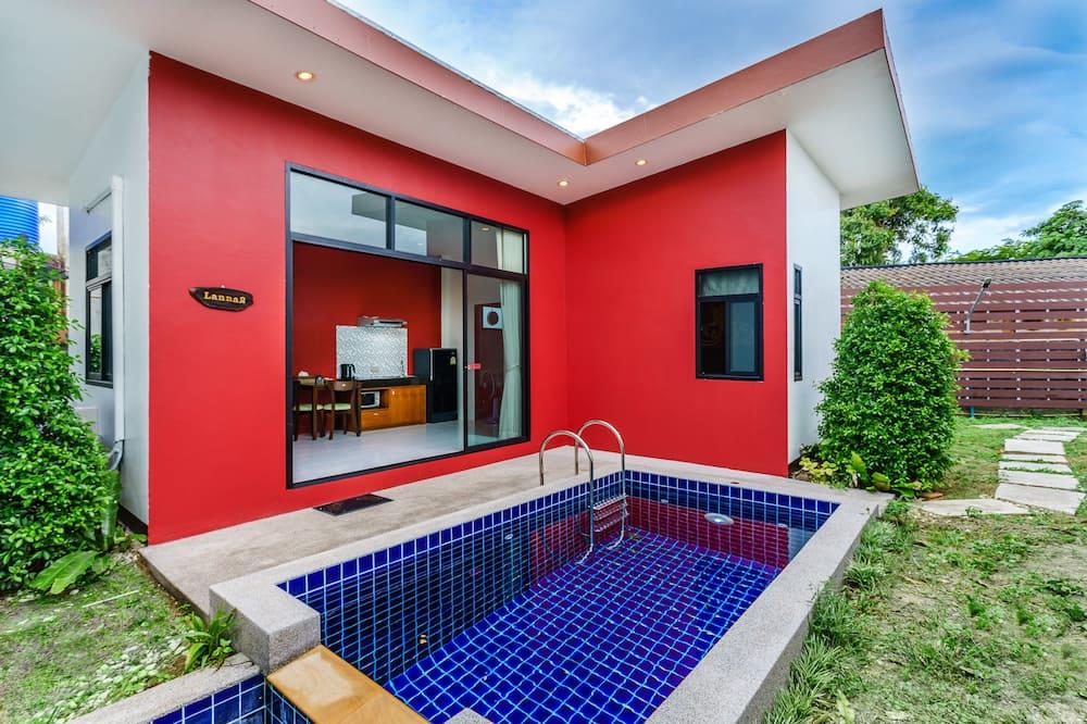 Dizajnová vila, 2 spálne, súkromný bazén, výhľad na bazén - Balkón