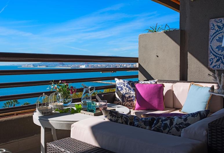 Living4Malaga Platinum Beach, Málaga, Appartement Premium, 5 chambres, terrasse, vue mer (Avenida Pintor Joaquin Sorolla, 101), Terrasse/Patio