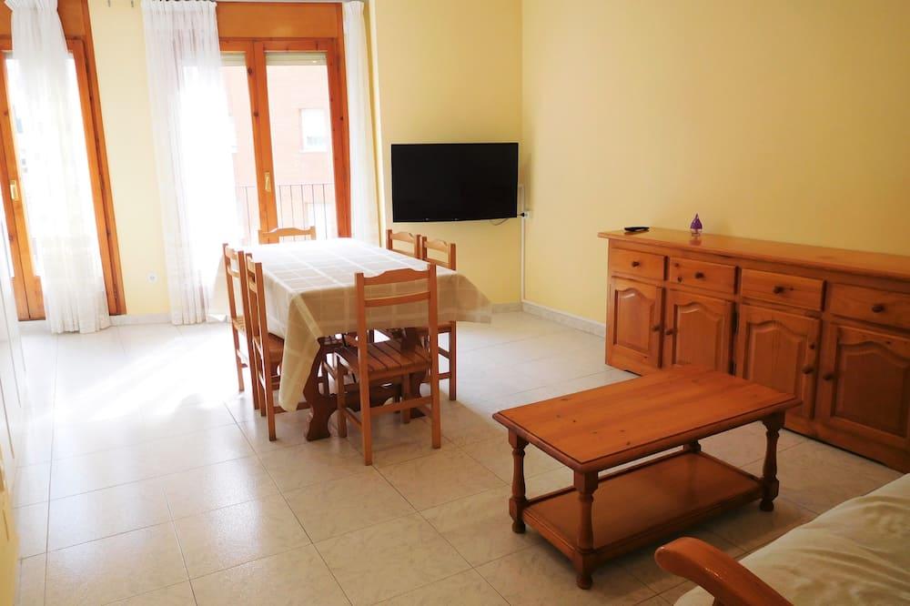 아파트, 침실 2개, 시내 전망 - 거실 공간