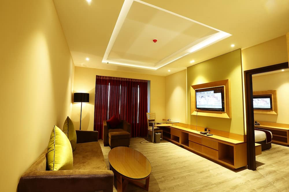 Luxury Suite, 1 King Bed, Park View - Living Room