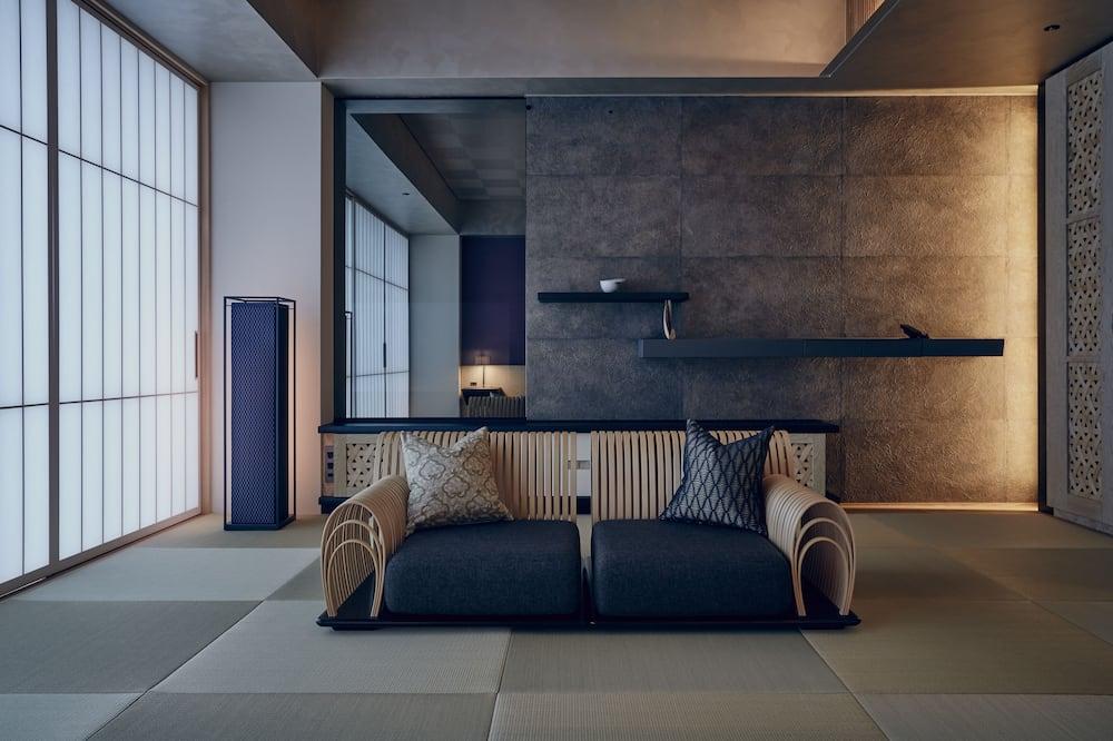 Deluxe Oda, 1 En Büyük (King) Boy Yatak, Sigara İçilmez (Yuri) - Oturma Alanı