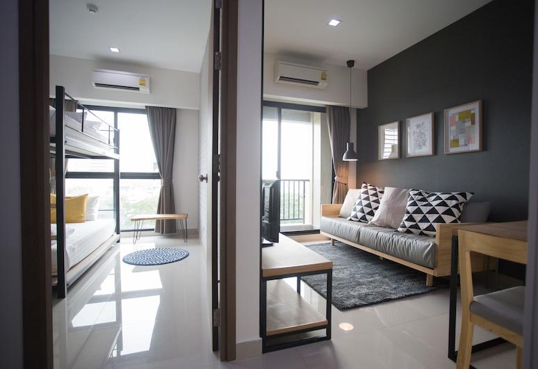 ザ ジャーニー ホテル, バンコク, デラックス スイート 2 ベッドルーム, リビング エリア