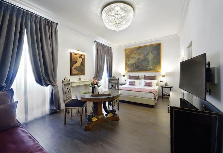 羅馬康多蒂套房酒店, 羅馬, 三人房, 1 張特大雙人床及 1 張梳化床, 客房
