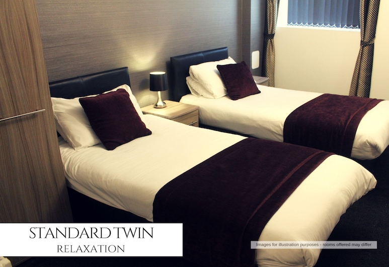 The Royal Seabank Hotel, Blackpool, Standard Twin Room, 2 Single Beds, Guest Room