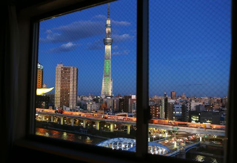 Hotel Wing International Select Asakusa Komagata, Tokió, Szoba két külön ággyal, nemdohányzó, kilátással a folyóra (Direct train fr NRT,HND), Vendégszoba kilátása