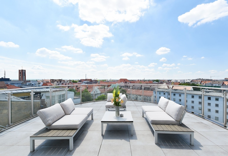 City Aparthotel München, Munich, Rooftop Suite with Private Roof Terrace, Terrace/Patio
