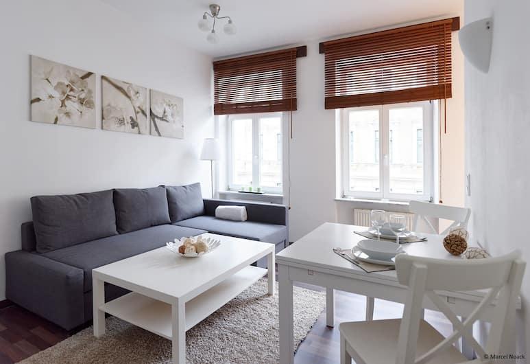 City Park Apartment 22, Leipzig, Studio, Wohnzimmer