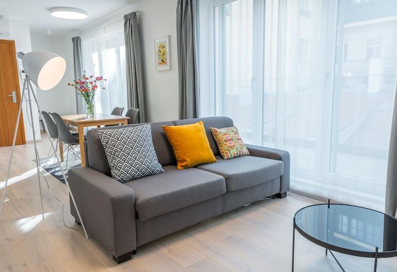 Harrachovsky Palace, Prag, Deluxe-Suite, 2Schlafzimmer, Terrasse, Zimmer