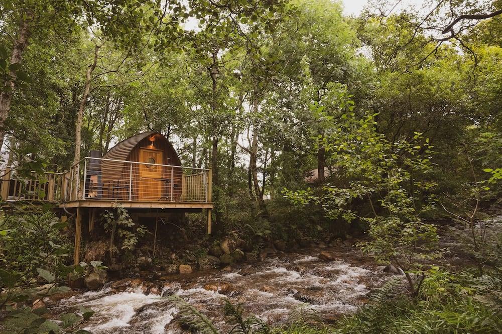 Cabaña de lujo, bañera de hidromasaje - Balcón