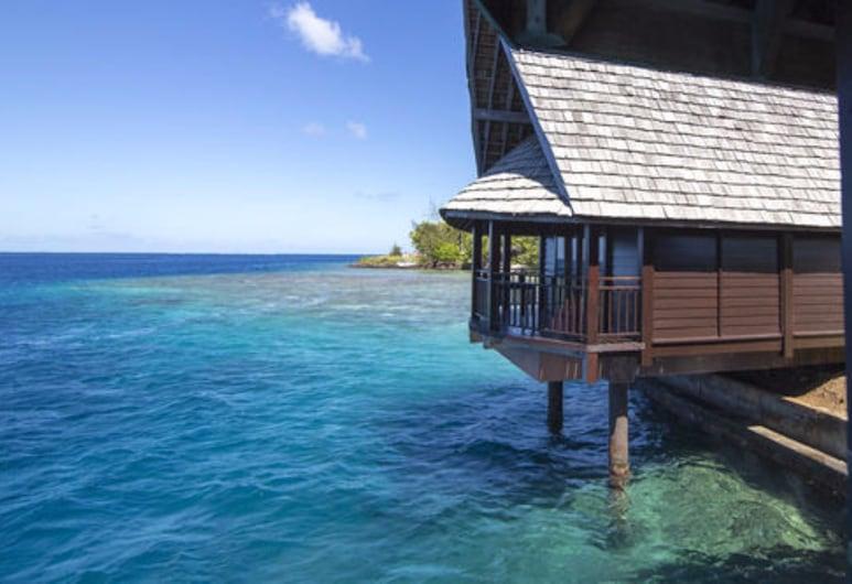 Oa Oa Lodge, Bora Bora, Bungalow, over vannet, Balkong