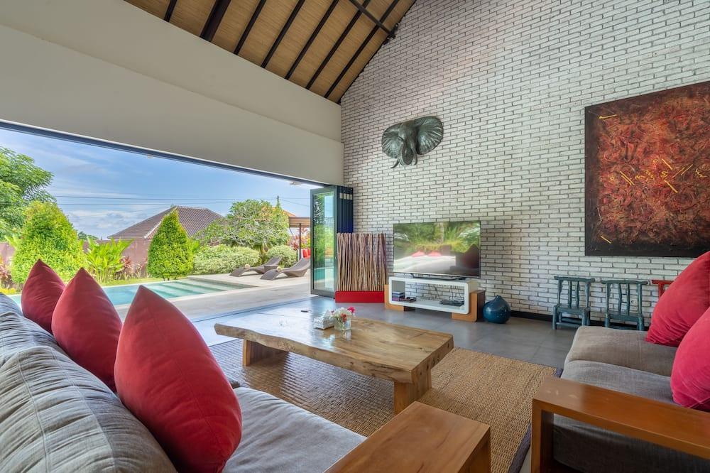 Villa – deluxe, 2 soverom, privat basseng, hageområde - Oppholdsområde