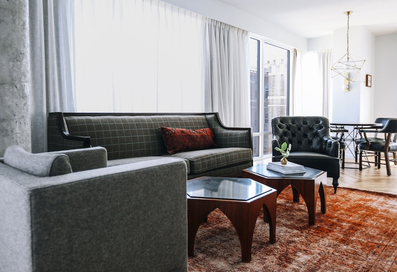 The LINE Hotel DC, Washington, Lakosztály (Apartment), Nappali