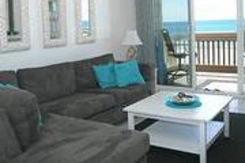 Apartament, 2 sypialnie, widok na morze - Salon