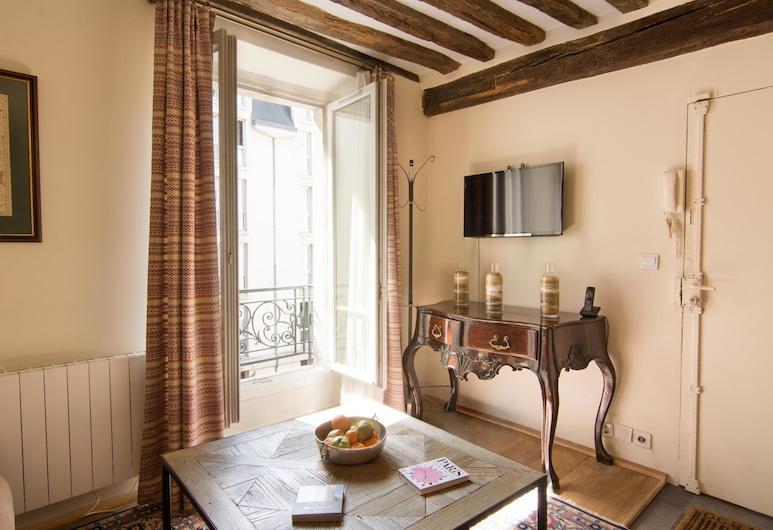 My Nest Inn Paris Panthéon, Paris, Lägenhet, Vardagsrum