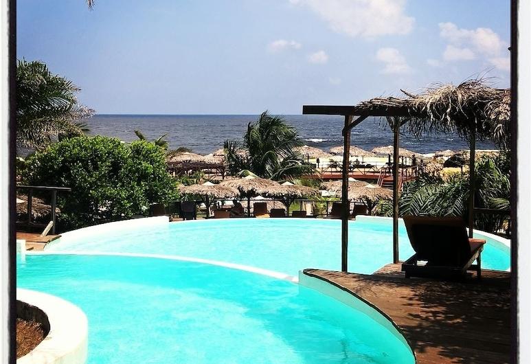 利巴薩生態小屋飯店, 馬紹爾, 無邊際泳池