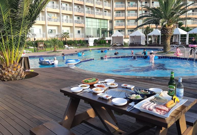 藍色夏威夷飯店, Jeju City, 室外游泳池