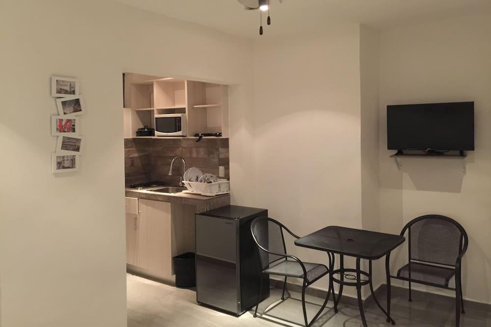 شقة إستديو عادية - سرير كبير - بمطبخ - تناول الطعام داخل الغرفة