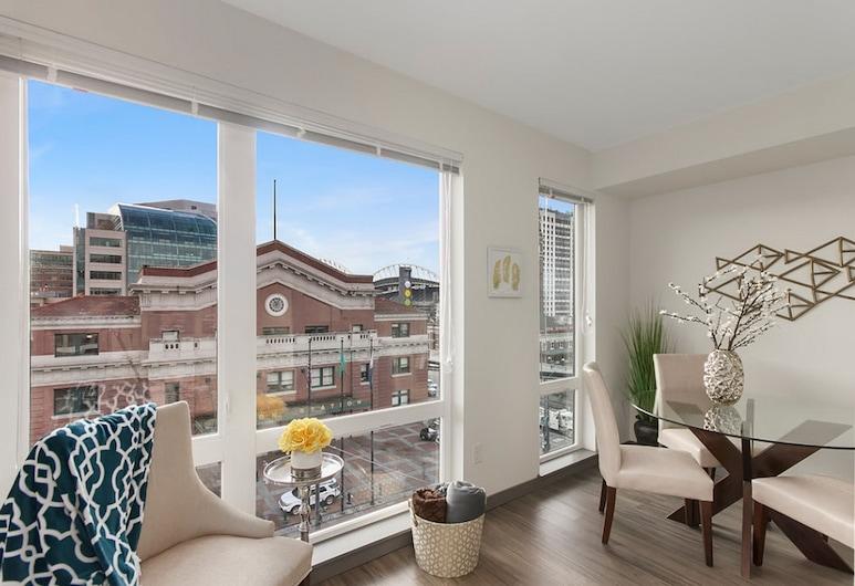 Pelicanstay in Pioneer Square, Seattle, Perhehuoneisto, 2 makuuhuonetta, Parveke, Ruokailu omassa huoneessa