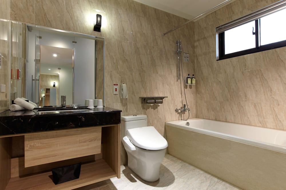 商務單人房, 1 張單人床, 陽台, 高層 - 浴室