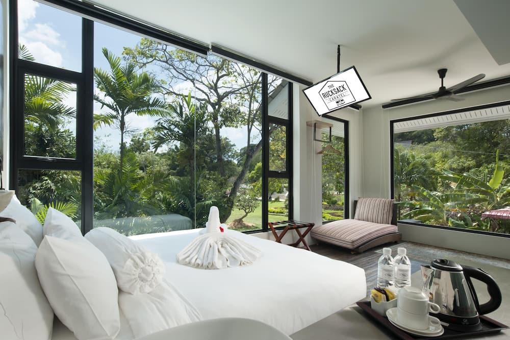 Izba typu Premium, 1 extra veľké dvojlôžko, výhľad na záhradu (Jacuzzi) - Výhľad z hosťovskej izby