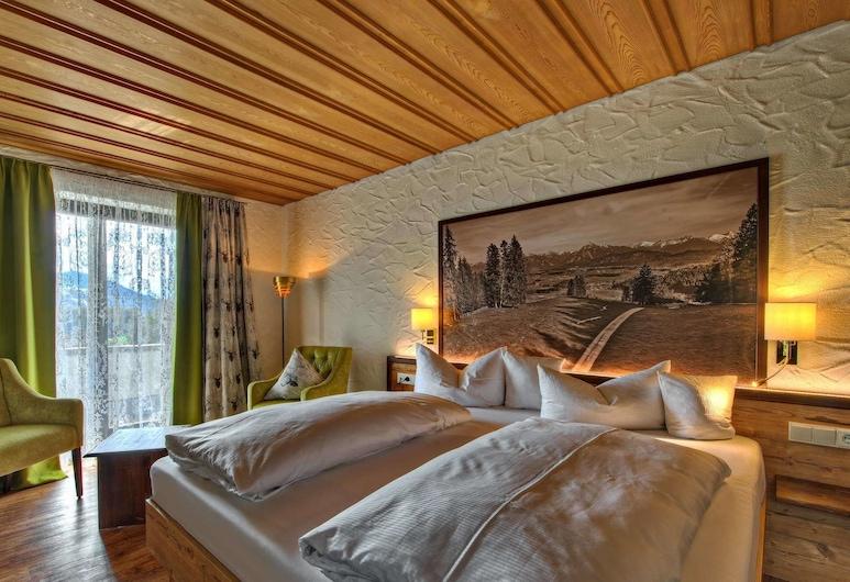 Königshof Health & View, Oberstaufen, Panoramska dvokrevetna soba, 1 spavaća soba, pogled na planinu, Soba za goste