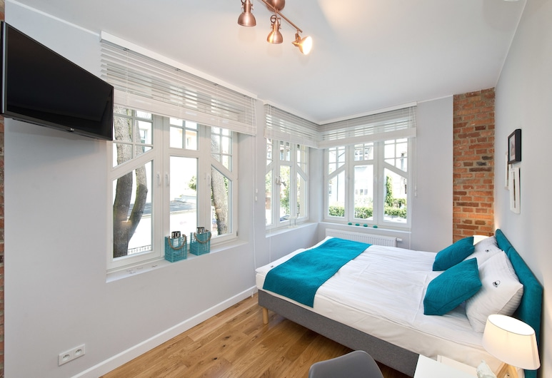Port Sopot, סופוט, חדר סופריור זוגי, מיטה זוגית, חדר אורחים