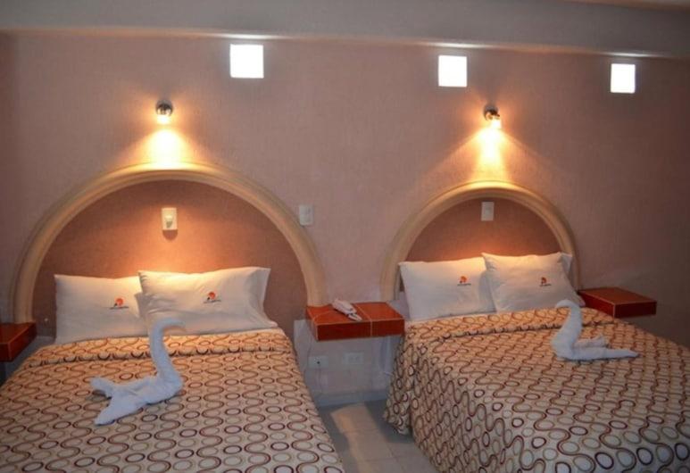 Hotel Central, Puebla, Executive kamer, 2 tweepersoonsbedden, Kamer