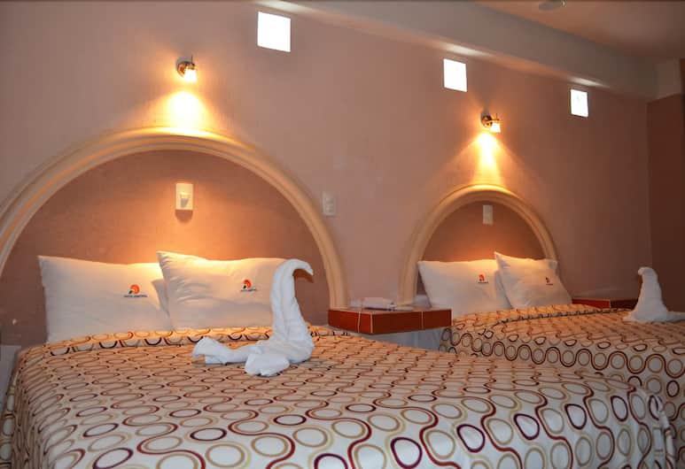 Hotel Central, Puebla, Standaard kamer, 2 tweepersoonsbedden, Kamer