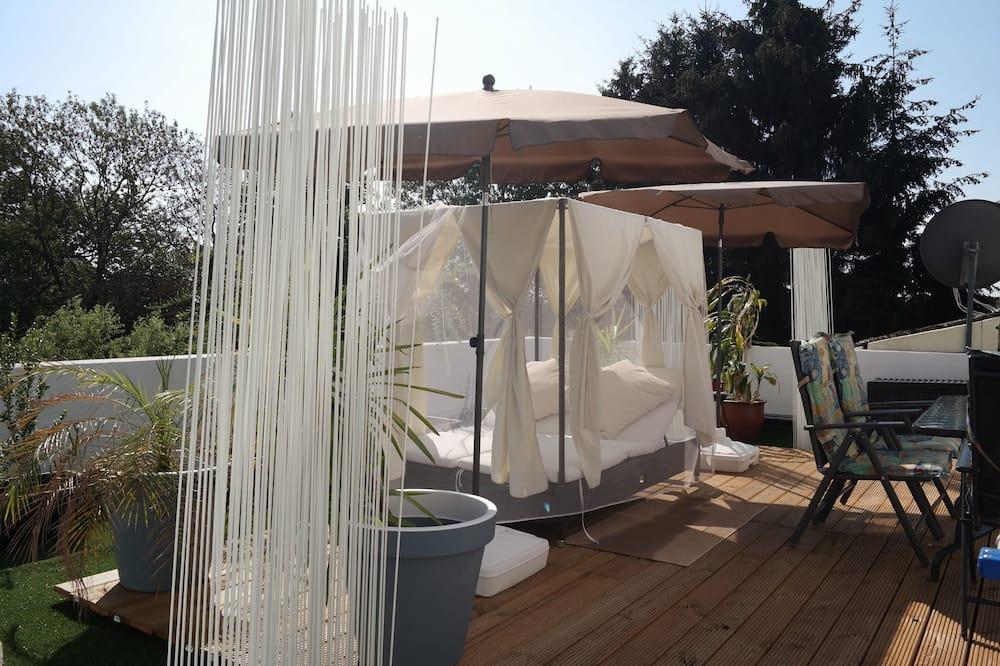 Appartamento Deluxe, 1 camera da letto, terrazzo, vista giardino - Balcone