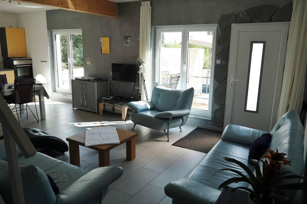 Appartamento Deluxe, 1 camera da letto, terrazzo, vista giardino - Area soggiorno