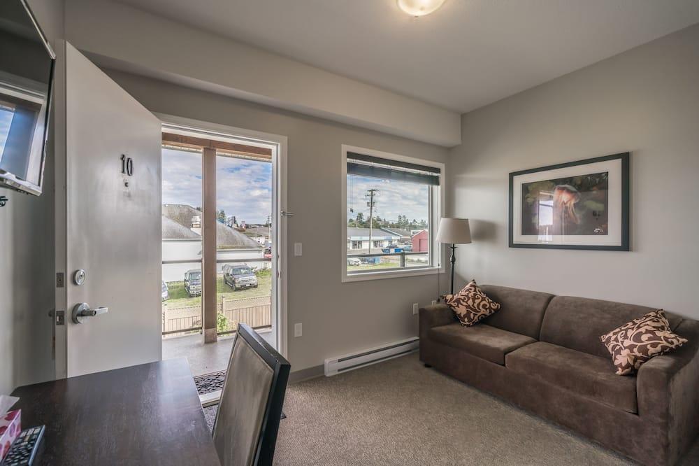 Deluxe Δωμάτιο, 1 King Κρεβάτι με Καναπέ-Κρεβάτι, Ψυγείο & Φούρνος Μικροκυμάτων - Περιοχή καθιστικού