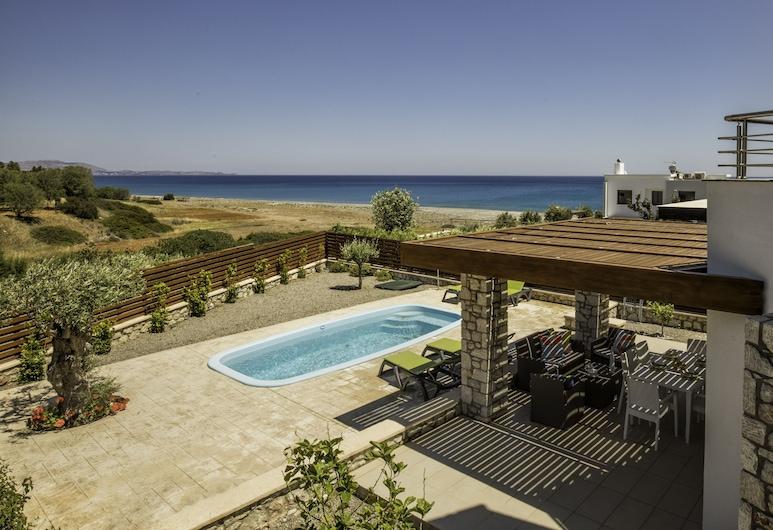 Antonoglou Beach Villas - Lahania, Rodosz, Villa, 2 hálószobával, privát medence, kilátással a tengerre, Terasz/udvar