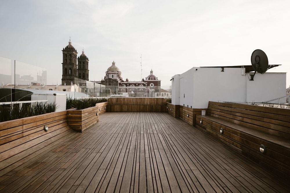 Terraza del hotel Quinta Esencia en Puebla