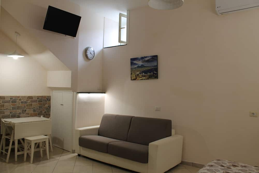 Classic-studio, 1 makuuhuone, Keittiö, Lisärakennus (Ischia) - Oleskelualue