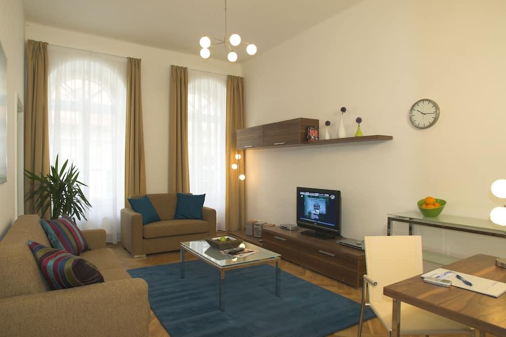 Apartament typu Deluxe Suite, 2 sypialnie, widok na miasto - Powierzchnia mieszkalna