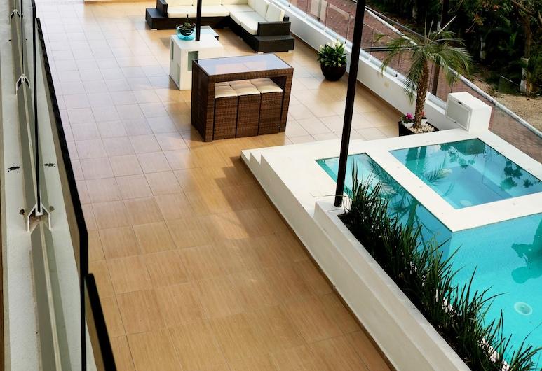 Rancho Macloy Hotel Spa & Social Events, Yautepec, אמבט ספא חיצוני