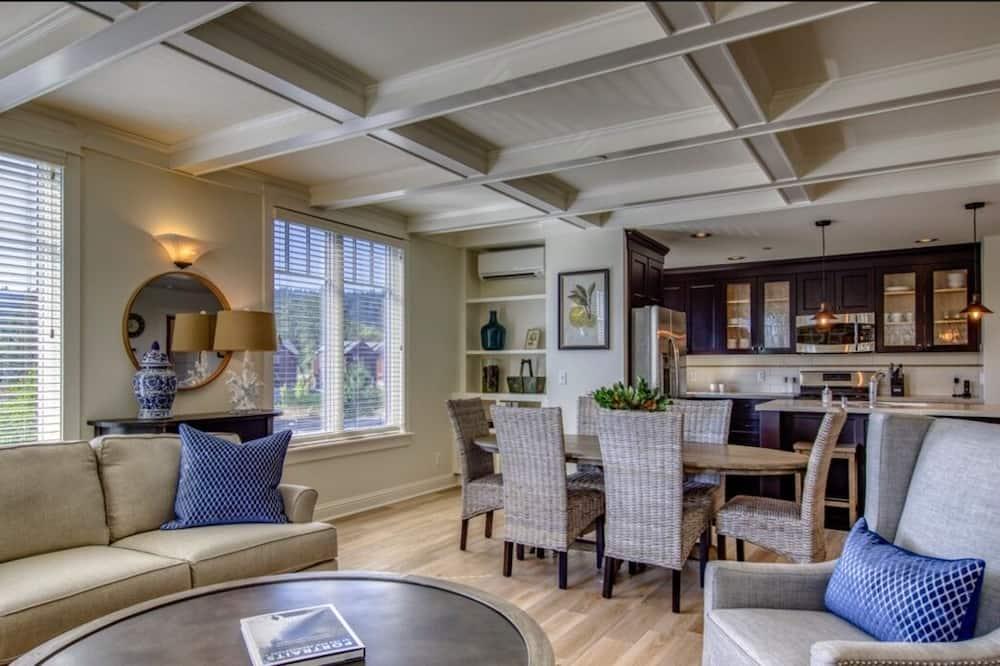 尊榮套房, 3 間臥室, 廚房, 海景 - 客廳
